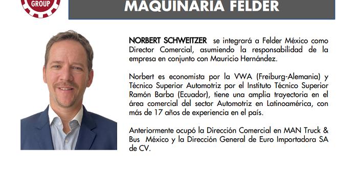 Nuevo Director Comercial Maquinaria Felder